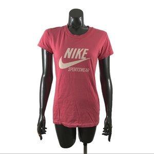 Nike Sportswear Pink Graphic Tee Shirt Size M